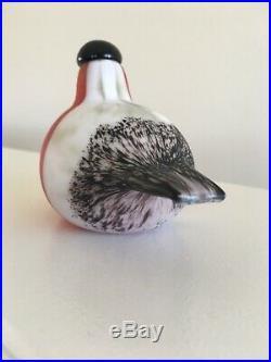 Mid Century Modern Oiva Toikka Design Birds Iittala 1994 Bullfinch Bird