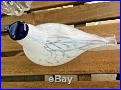 Muurla Finland Mouthblown Waxwing Glass Bird Speckled White New