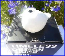 NEW Iittala Toikka Nuutajarvi White Puffball Glass Bird- in Box (2010 to 2016)