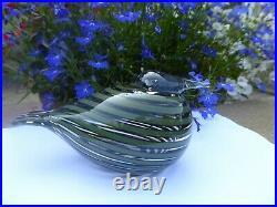 NEW Iittala Toikka Whip Poor Will Glass Bird (Whippoorwill /Pajusotka) in Box