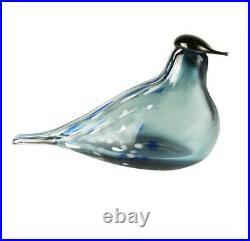 New MUURLA TILHI TURQUOISE GLASS BIRD 8x3.5x5