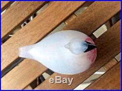 Northern Waxwing rare Bloomingdales Oiva Toikka glass bird Nuutajärvi Finland
