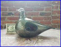 Nuutajarvi Notsjo Finland OIVA TOIKKA Art Glass Bird-Iittala-Pheasant-EX