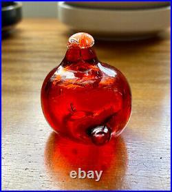 Nuutajärvi Oiva Toikka Hippiäinen Golden Crested Kinglet Extremely Rare Ruby Red