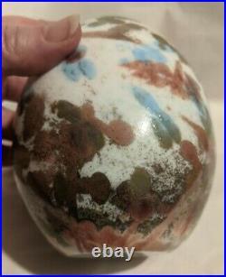 OIVA TOIKKA iittala Finland Art Glass 2008 Cucunor Bird Egg Signed & Numbered