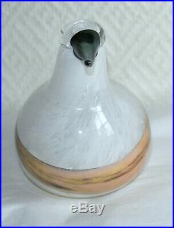 Oiseau en verre soufflé Oiva Toikka Nuutajarvi iittala Finland Art Glass Bird