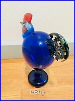 Oiva Toikka 25 Years Anniversary Art Bird 1997 Celebrate Rooster Iittala Finland