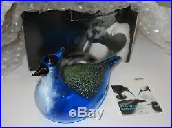 Oiva Toikka Annual Art Bird Blue Jay 1999 iittala Nuutajärvi Finland NIB