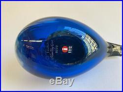 Oiva Toikka Annual Bird 1999 Blue Jay Design Glass Birds Iittala Finland (BOX)