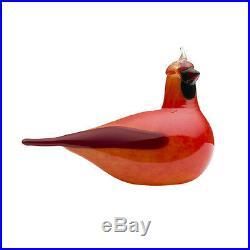 Oiva Toikka Art Bird Red Kardinaali Cardinal Iittala Finland