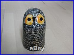 Oiva Toikka Art Glass Bird BARN OWL Iittala Finland