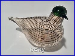 Oiva Toikka Art Glass Bird CRAKE, Iittala Nuutajärvi Finland