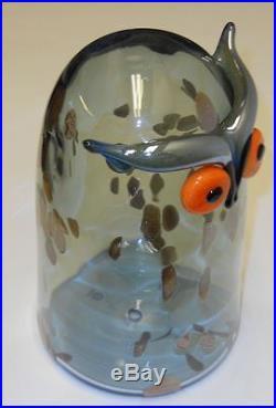 Oiva Toikka Art Glass Bird Long Eared Owl Stockmann Iittala Finland NIB