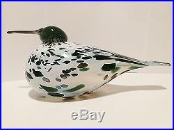 Oiva Toikka Art Glass Bird SWAMP CURLEW SUOKURPPA Iittala, BOX! Very limited