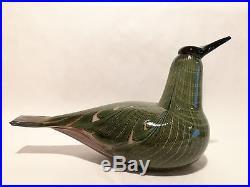 Oiva Toikka Art Glass Bird Special Big DIVER, Iittala Nuutajärvi Finland