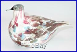 Oiva Toikka Art Glass Bird for Iittala, Finland, CUCUNOR Quail 2008 Annual Bird