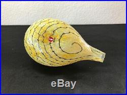 Oiva Toikka Art Glass Bird for Iittala Finland Yellow & Black Quail Annual Bird