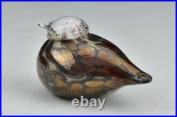 Oiva Toikka Art Glass Goldcrest Spotted Lila Lustre Bird Iittala Nuutajarvi