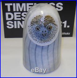 Oiva Toikka Art Glass Owl Bird Rospuutto Stockmann Iittala Finland NIB