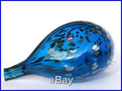 Oiva Toikka Bird Blue Saphire Art Glass Design Birds by Toikka Iittala (BOX!)