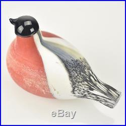 Oiva Toikka Bird Bullfinch Punatulkku Art Glass Design Iittala Nuutajärvi