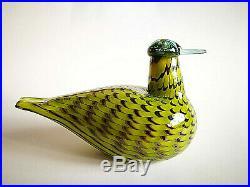 Oiva Toikka Bird Common Teal Female Design Glass Art Birds Iittala Finland