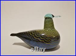 Oiva Toikka Bird Common Teal Female art glass design Birds by Toikka Iittala