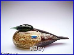 Oiva Toikka Bird Eider Female Glass Design Birds by Toikka Iittala Finland