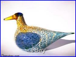 Oiva Toikka Bird Goose Martin Hanhi Art Glass Design Iittala Finland