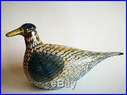 Oiva Toikka Bird Goose Martin Hanhi Glass Design Art Iittala Finland