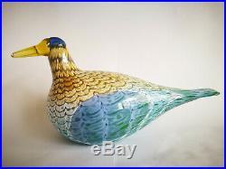 Oiva Toikka Bird Goose Martinhanhi Glass Art Birds Iittala Finland