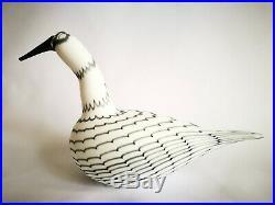Oiva Toikka Bird Karelian Whooper Swan gray Art glass Birds by Toikka Iittala