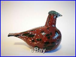Oiva Toikka Bird Korpikiiruna Kotiliesi Design Glass Art Birds Iittala Finland
