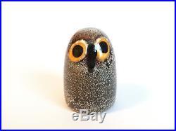 Oiva Toikka Bird LITTLE BARN OWL Iittala Glass Design Finland NEW