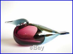 Oiva Toikka Bird PARISH CLERK Design Glass Birds Iittala Finland