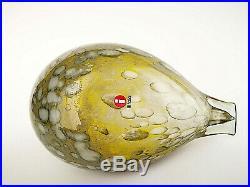 Oiva Toikka Bird Pine Grossbeak Female Design Glass Art Iittala Finland
