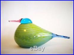 Oiva Toikka Bird Rainbow Bird Sateenkaarilintu Design Glass Birds Iittala