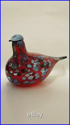 Oiva Toikka Bird Ruby Red 1996-1997 Iittala Nuutajärvi Finland Arabia