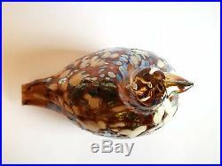 Oiva Toikka Bird Ruffed Grouse Design Glass Art Birds Iittala Finland