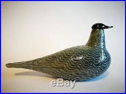 Oiva Toikka Bird Stockdove Metsäkyyhky Glass Design Art Iittala Finland
