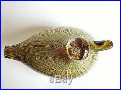 Oiva Toikka Bird Wild Goose Big Design Glass Art Birds Iittala Finland