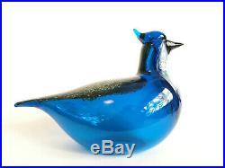 Oiva Toikka Blue Jay Annual Bird 1999 Glass design Iittala Nuutajärvi Finland