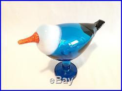 Oiva Toikka Blue Magpie glass Design Birds by Toikka Iittala Finland