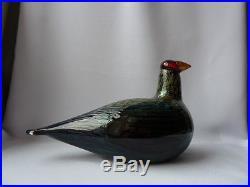 Oiva Toikka Capercaillie Metso Art Glass Bird Finland Stickers on, VGC
