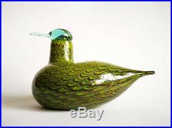Oiva Toikka Common Teal Female Bird Design Glass Art Birds Iittala Finland