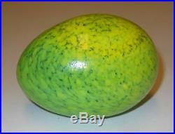 Oiva Toikka Cute Nice Green Art Bird's Egg Iittala Nuutajarvi Finland Signed