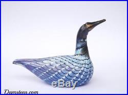 Oiva Toikka Design Art Glass Bird DIVER Iittala Nuutajärvi Finland
