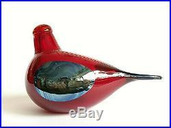 Oiva Toikka Fallingwater Red Art glass Design Birds by Toikka Iittala Finland