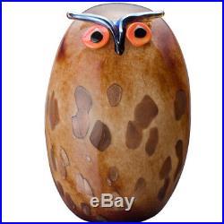 Oiva Toikka Great Horned Owl Uhuu Huge Mouth Blow Art Bird Iittala Finland