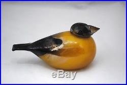 Oiva Toikka Iittala Art Glass Bird Gold Finch 74/1000